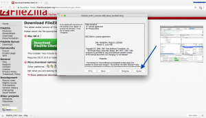 FileZilla installeren, Klik op Agree